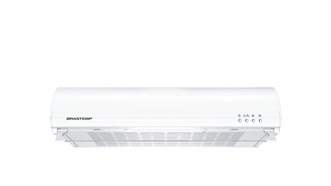 Depurador de Ar Brastemp 60 cm Branco 4 bocas com duplo filtro