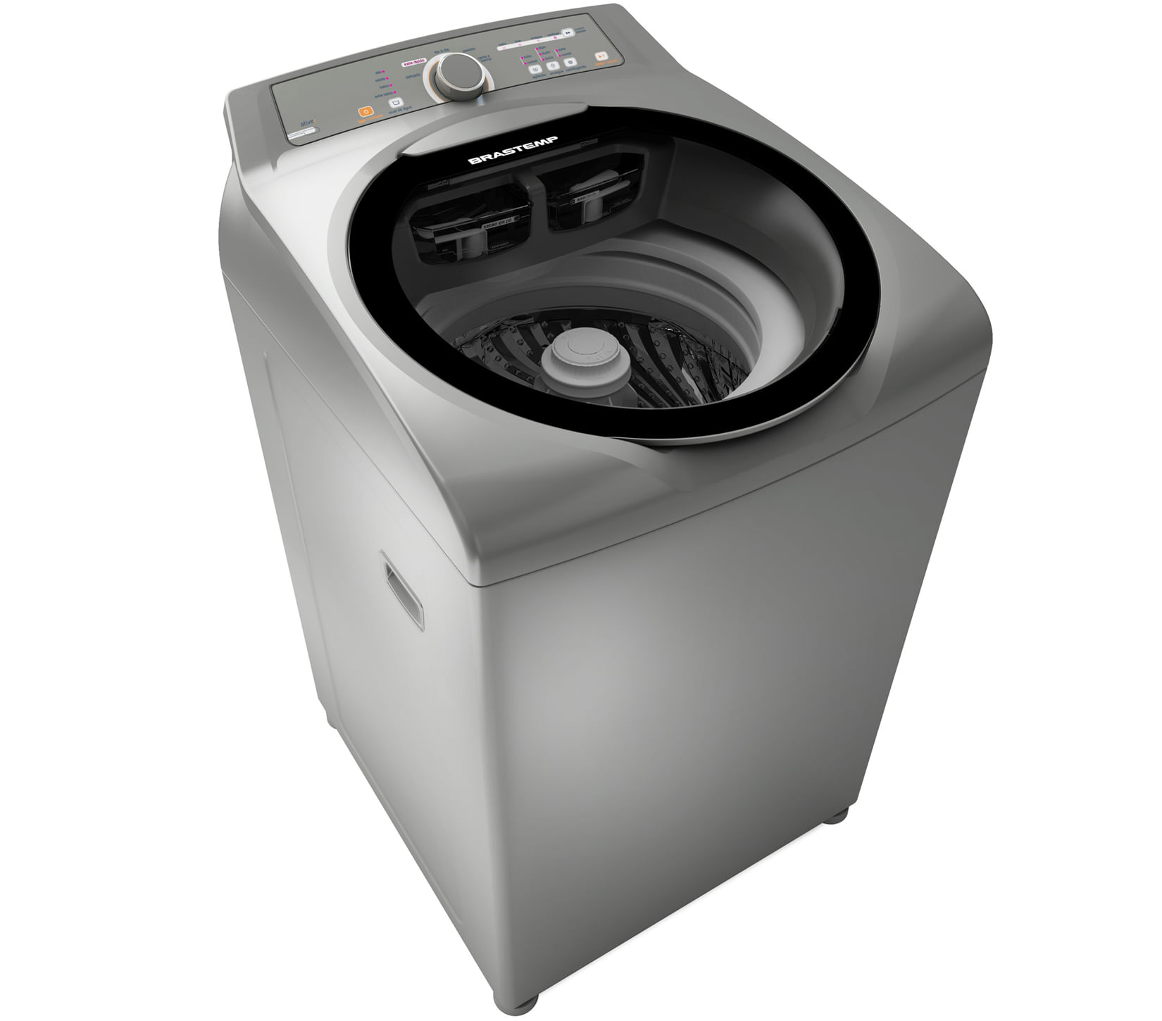 Máquina de Lavar Brastemp 11kg cor Inox com sistema Fast Cycle e função Extra Seca