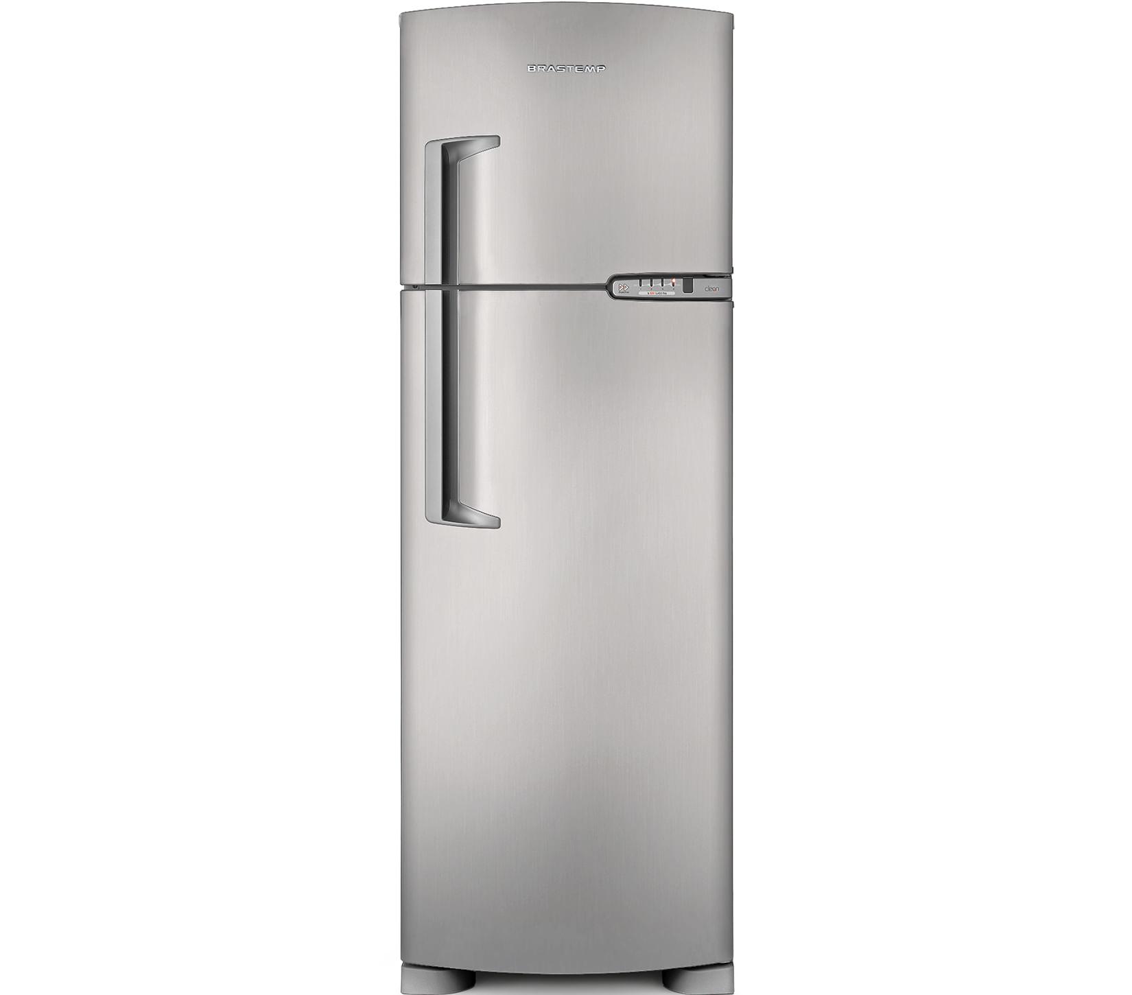 Geladeira Brastemp Frost Free Duplex 378 litros cor Inox com Porta-Latas