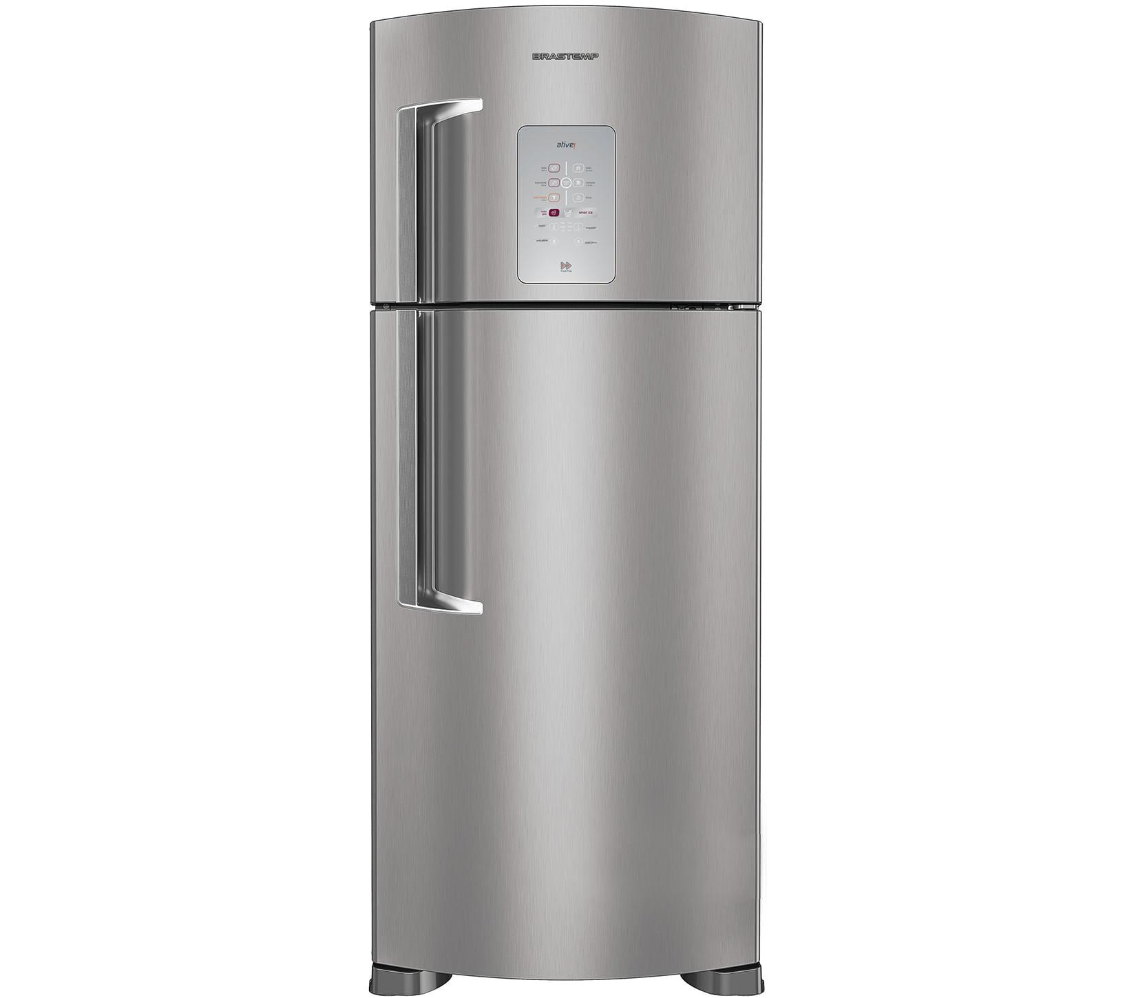 Geladeira Brastemp Frost Free Duplex 429 litros cor Inox com Smart Bar