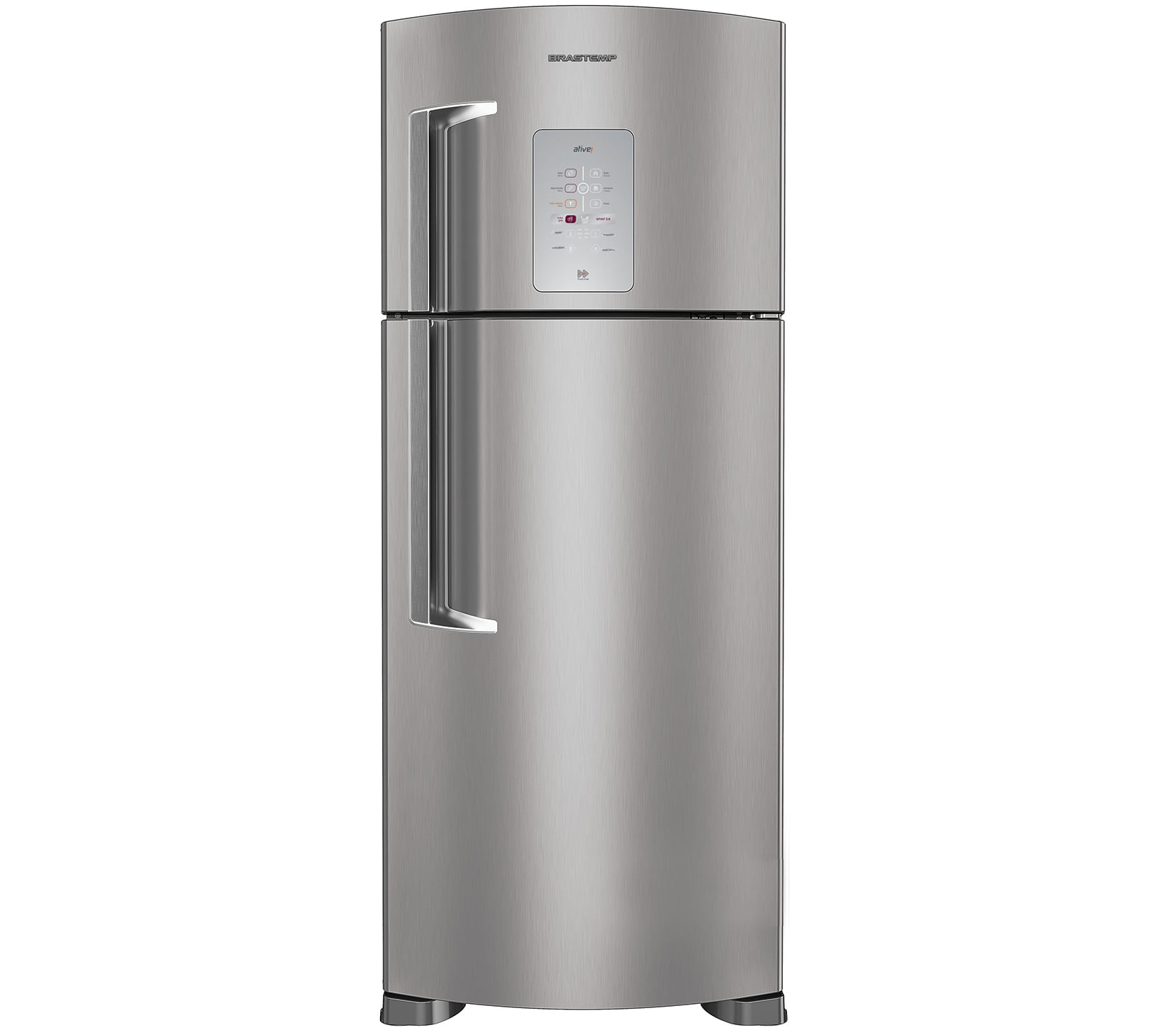Geladeira Brastemp Frost Free Duplex 403 litros cor Inox com Smart Bar