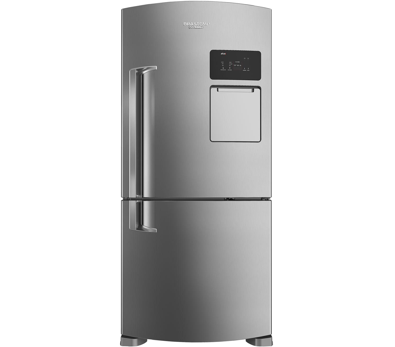 Geladeira Brastemp Frost Free Inverse 565 litros cor Inox com Ice Maker