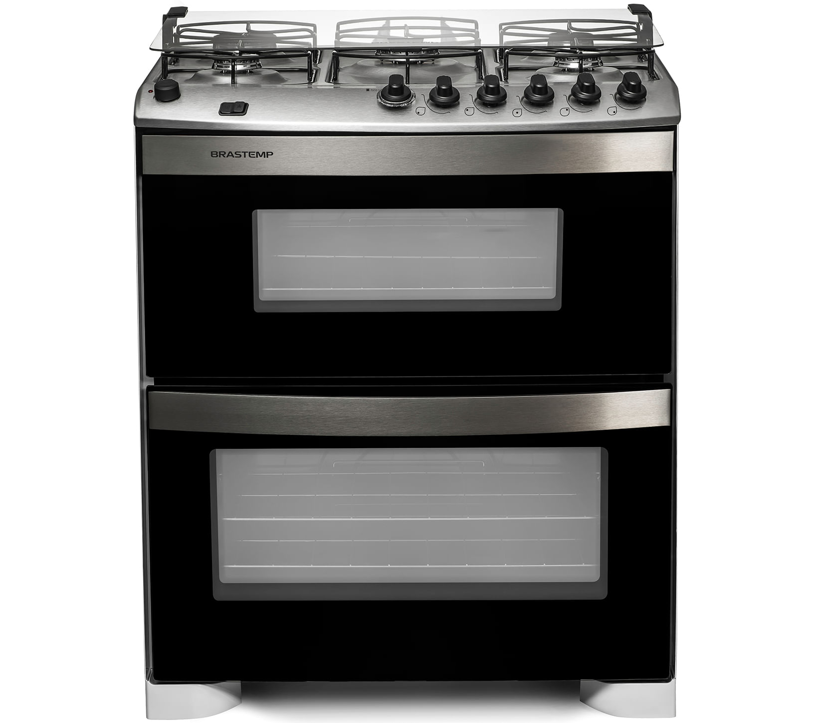 Fogão Brastemp 5 bocas duplo forno Branco com acendimento automático