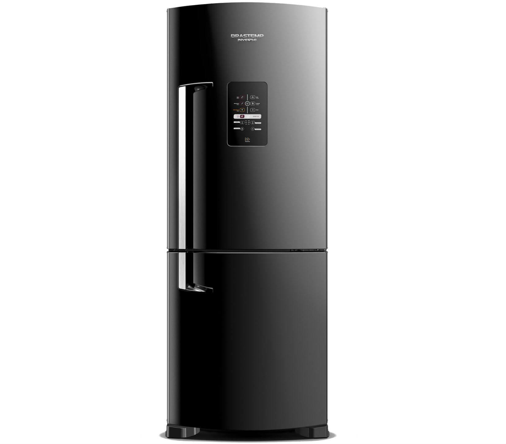 Geladeira Brastemp Frost Free Inverse 422 litros Preto com Smart Ice