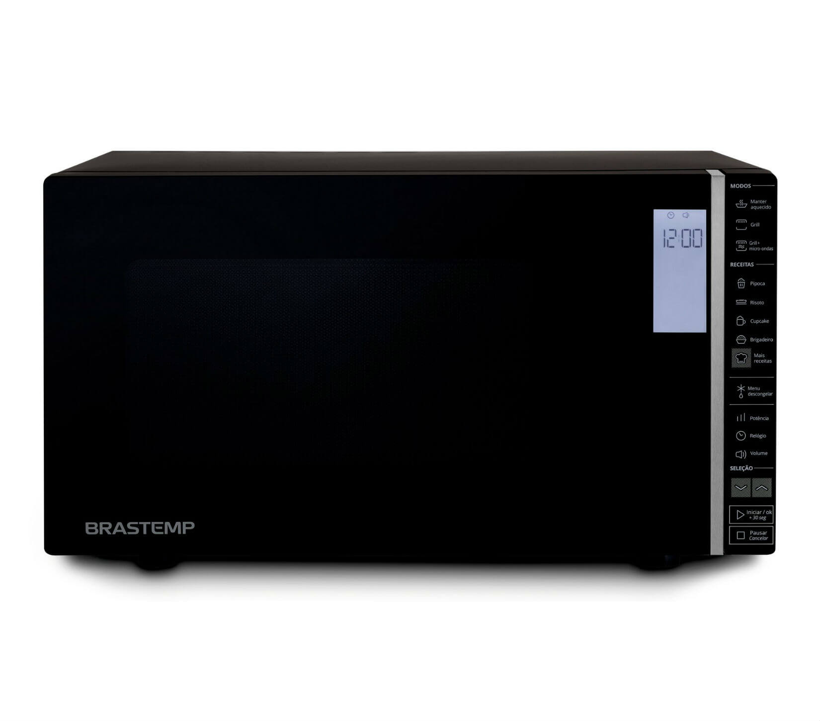 Micro-ondas Brastemp 32 Litros Preto com Grill e Painel Integrado