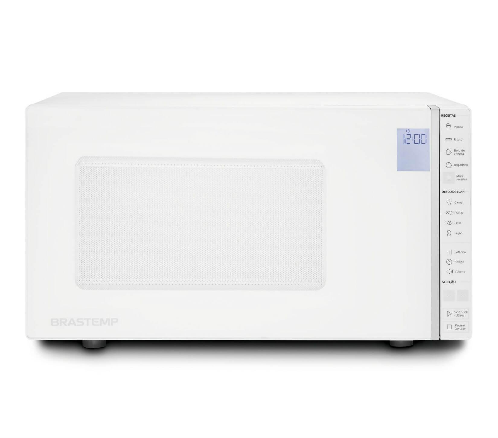 Micro-ondas Brastemp 32 Litros Branco com Painel Integrado