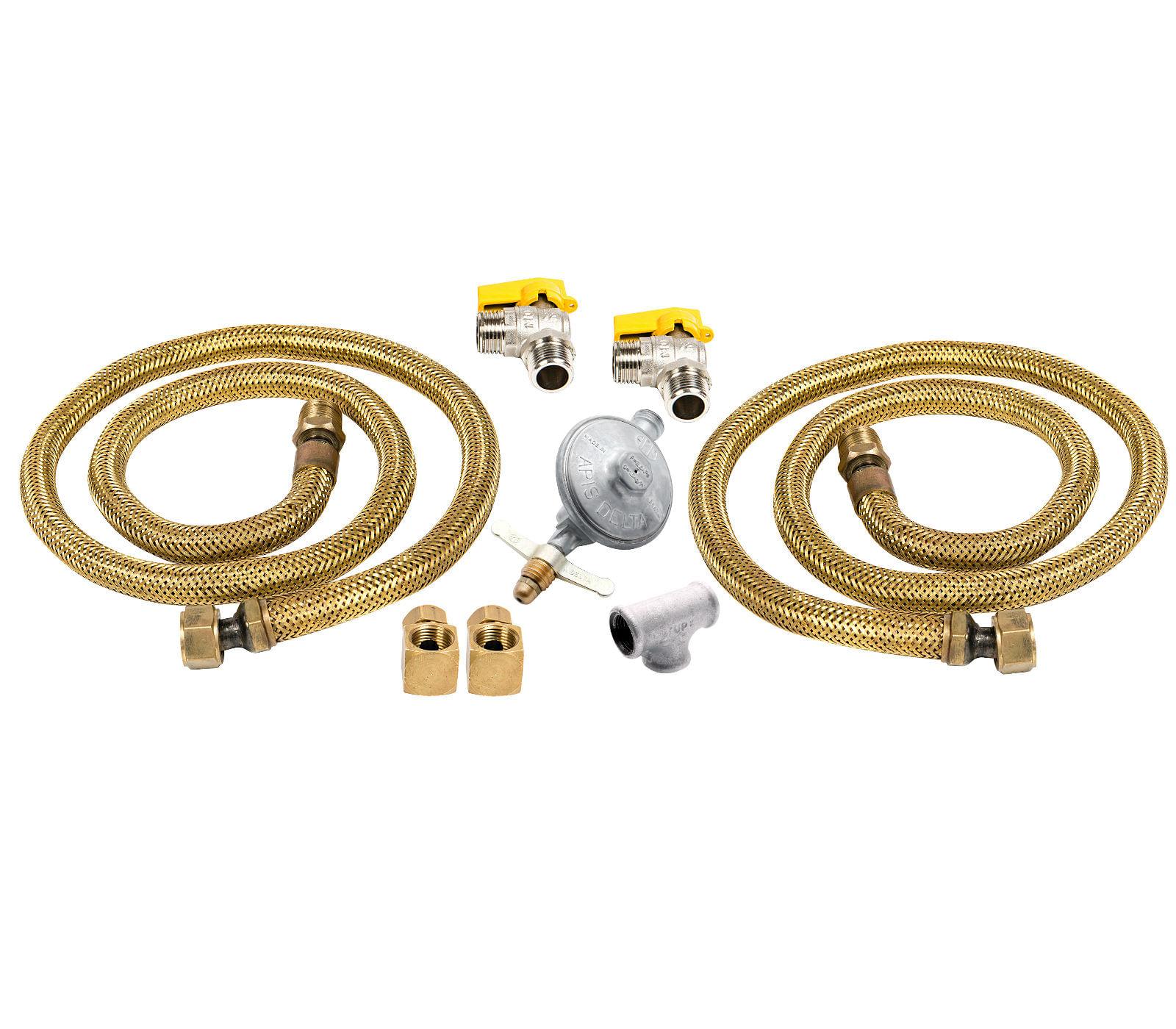 Kit de Instalação Duplo para Cooktop e Forno para Gás de Botijão - CJ-W10866791_2GLP
