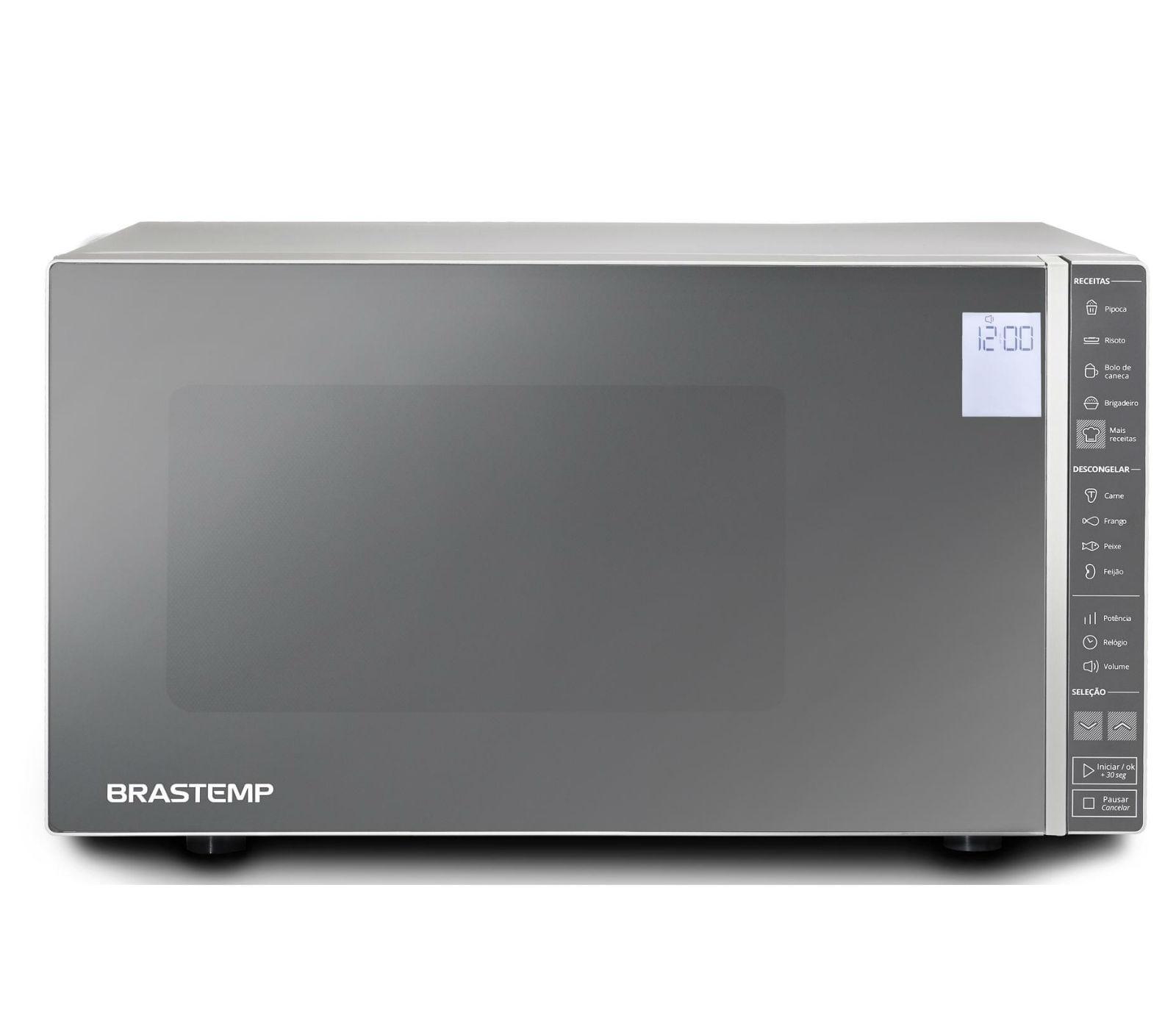 Micro-ondas Brastemp 32 Litros cor Inox Espelhado com Painel Integrado