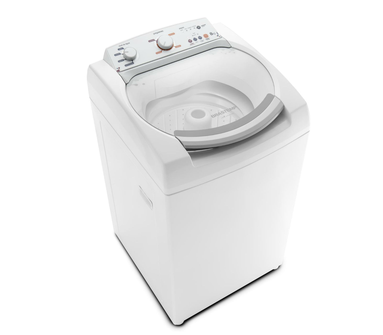 Máquina de Lavar Brastemp Clean 8Kg Turbo Performance e Enxágue Extra