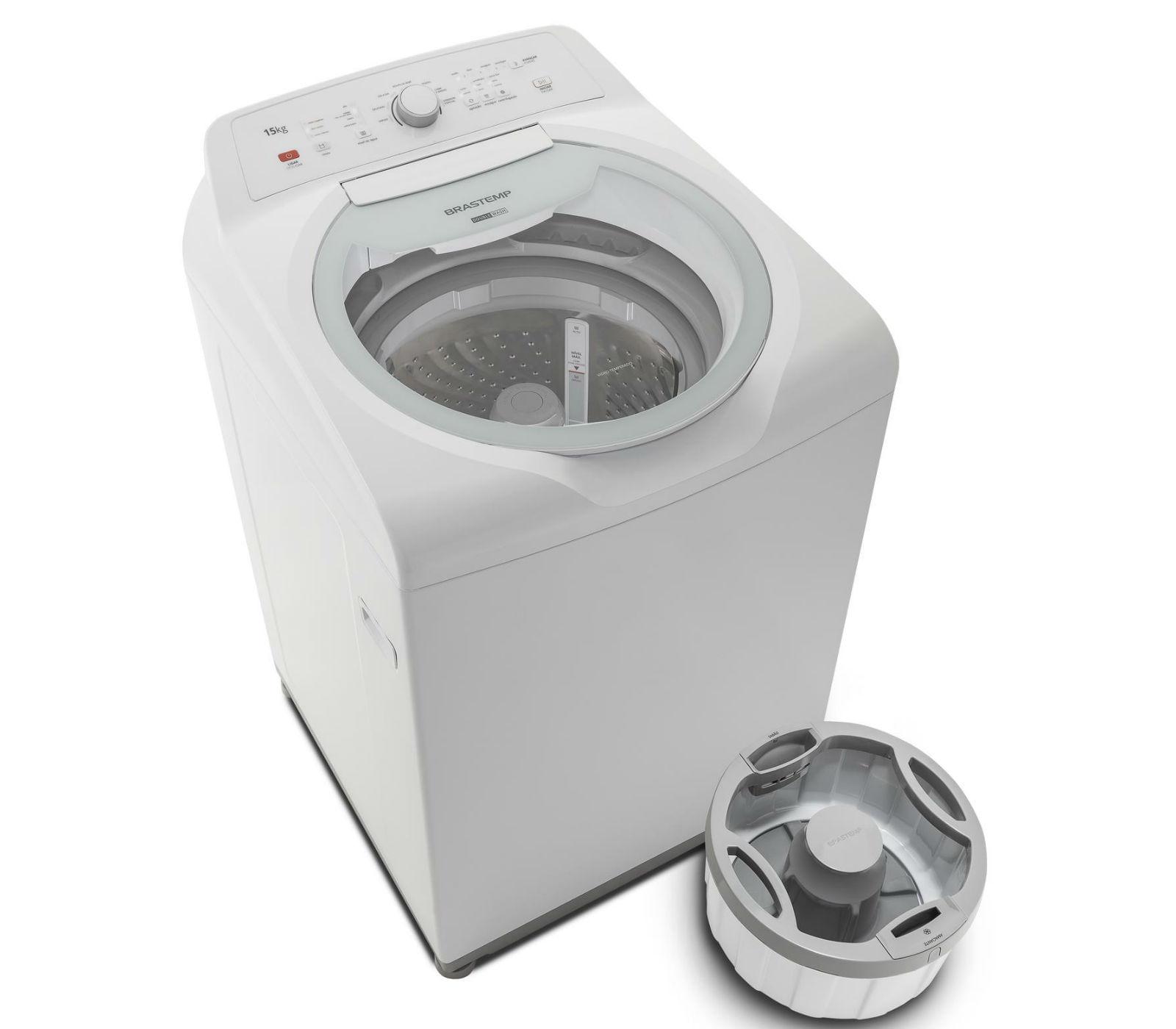 Máquina de Lavar Brastemp 15kg Double Wash com Ciclo Edredom