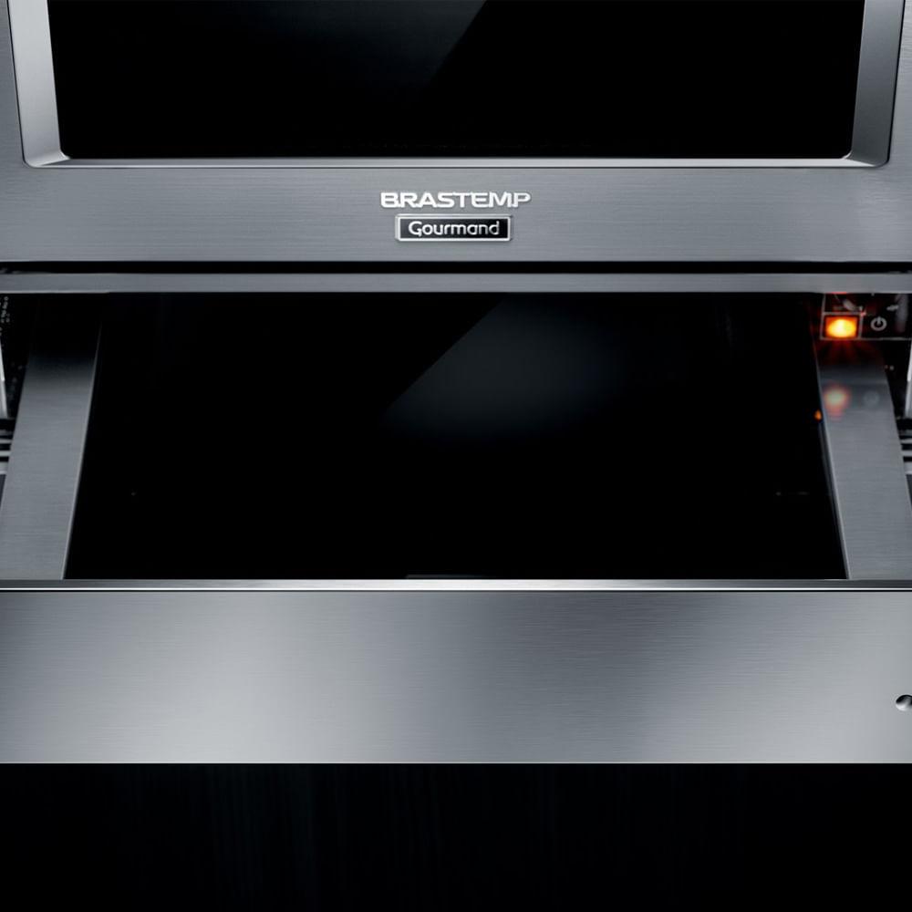 Gaveta Aquecida de embutir Brastemp Gourmand inox com capacidade de até 25kg - BOE15AR