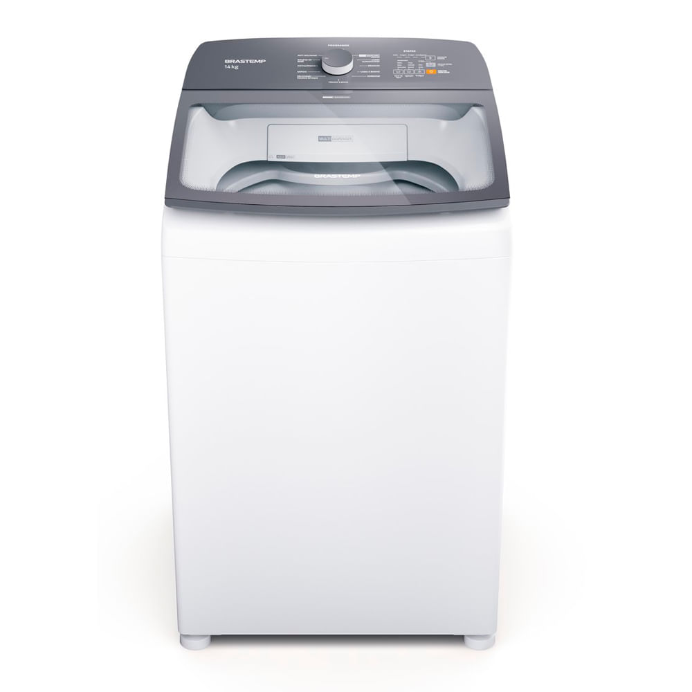 Máquina de Lavar Brastemp 14Kg branca com Ciclo Tira Manchas Advanced e Ciclo Antibolinha