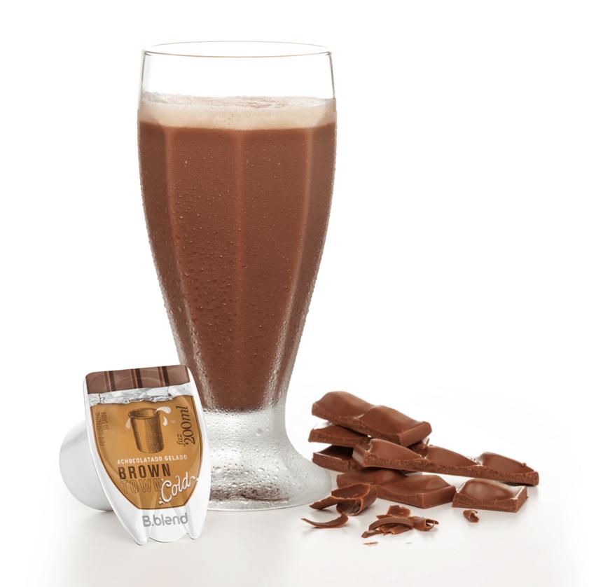 Chocolate Gelado BrownTown - Kit com 10 cápsulas