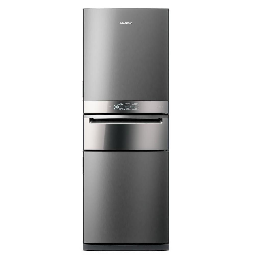 Geladeira Brastemp Inverse 3 Frost Free 419 litros cor Inox com Freeze Control Pro - BRY59BK