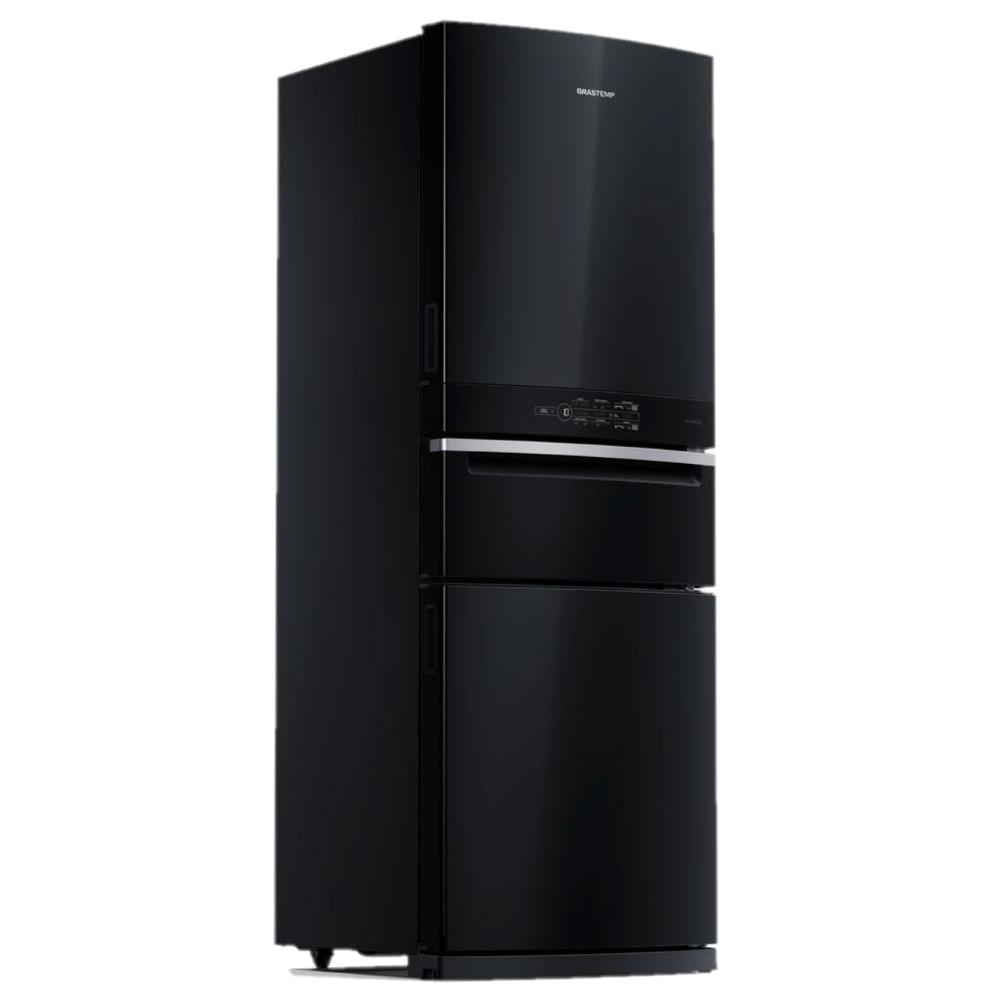 Geladeira/refrigerador 419 Litros 3 Portas Preto Frost Free - Brastemp - 110v - Bry59beana